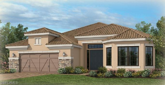 Under Construction - The Pallazio is a 2,929 sq. ft. single-family home that is built for grand entertaining or comfortable, casual living. The foyer leads to a den, dining area and spacious great room. A designer kitchen with over-sized island has sliding door entrance to a large covered lanai. The Master Suite includes dual shower seats and sinks, water closet, and large walk-in closet. PHOTOS OF MODEL HOME. Ready in August.