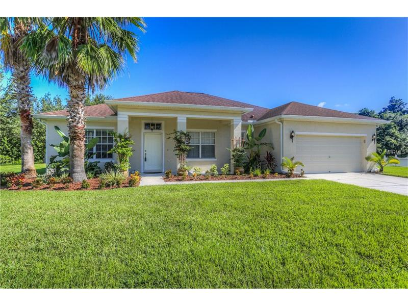 BEST LOT IN PANTHER TRACE!!! Stunning David Weekley 4 bedroom, 3 bathroom home with nearly 2600 sf on an oversized POND and CONSERVATION lot at the end of cul-de-sac, in Panther Trace! NEW Lennox 15 SEER A/C 2017!  New full Seamless Gutters! Gleaming 18