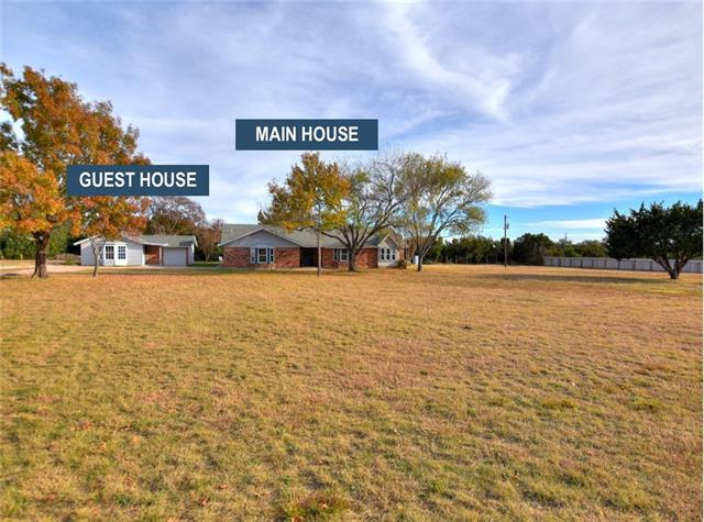 "2 complete homes on 1.4 ACRES.  Main: 3 bed, 2.5 baths, family + bonus living off kitchen,walk in closets. Guest:1 bed/1 bath, large open living, rustic barn wood ""look"" laminate, New interior paint, new interior carpet, new granite counters throughout.  Almost all new plumbing and electrical fixtures, replaced HVAC in both homes.  Finishing a few punch out items.  Please remove shoes or wear shoe covers."
