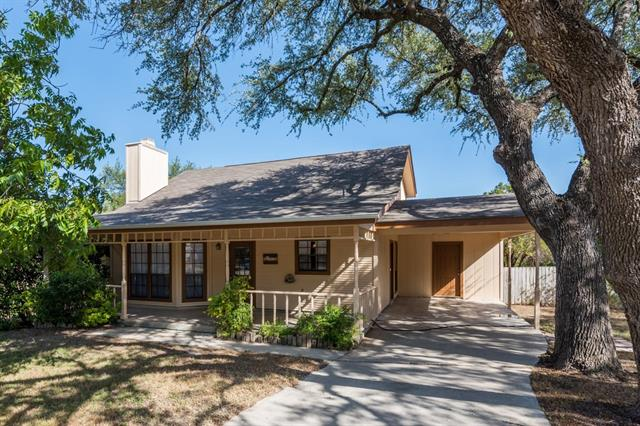 Hill Country 2 Story in the Heart of Jonestown! Well maintained. Workshop at the back of the house. Large Back yard w/ deck. Fireplace. Updated Kitchen. Recently painted interior. Roof replaced 2010. HVAC replaced 2017. Walk to Jones Brother Park w/ Water Access, Tennis Courts, basketball courts, pavilion & walking trails. NO HOA! SOLD AS IS. GPS doesn't work correctly on this address. If you're going west on 1431/White Stone Blvd, take a left on East Lake Terrace & for sale sign on the right.