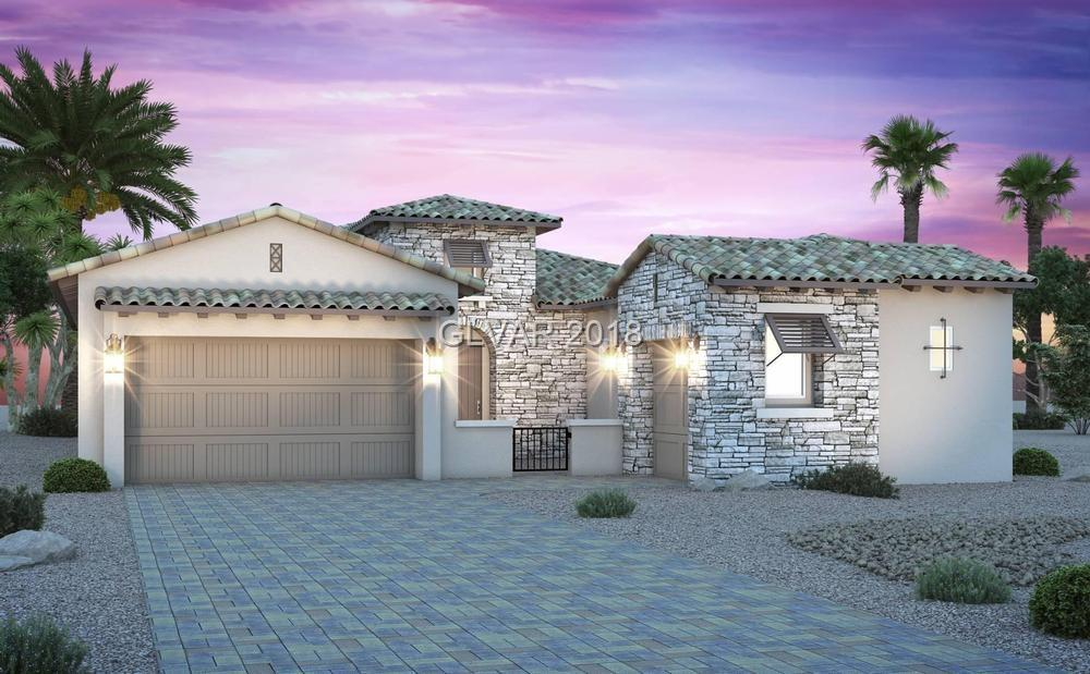 New home in Monte Lucca at spectacular Lake Las Vegas. 3 bed + 3 and a half baths.