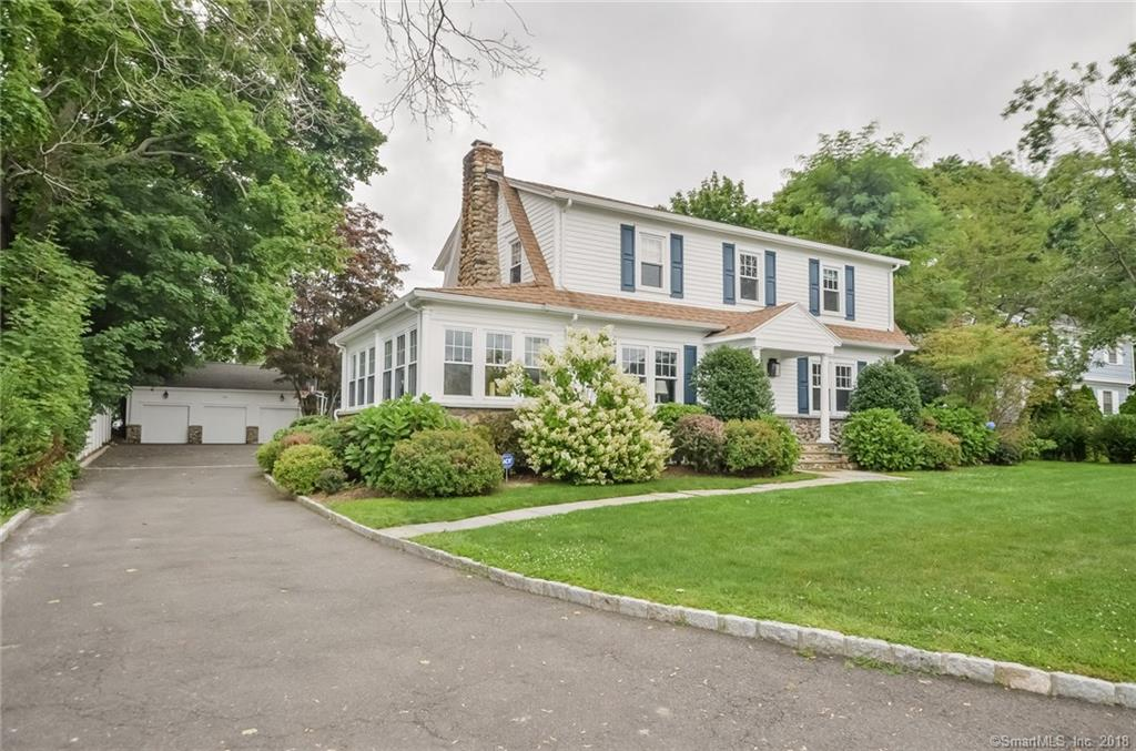 Beautifully renovated & expanded classic Shippan Point colonial with layout for today's living...Oversize luxury EIK opens to spacious, light filled family room. Charming dining room with stone fireplace connects to sun room with stone permiter knee wall..Cozy den off kitchen as well as first floor office. Outstanding Master bedroom suite w/ large walk in closets, top of line marble bath.Hardwood floors and detailed mouldings throughout.. Large level yard, 3 car garage, 2 stone paitio areas for entertaining..Full house generator, sprinkler system..All the work has been done for you!..worry free..just move in! 8 minutes to Metro North, 95 and vibrant downtown Stamford! Outstanding waterfront community!