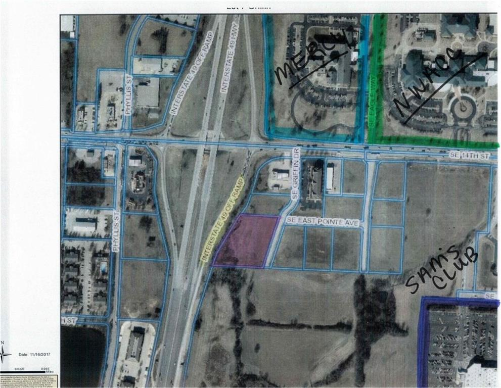 2.52 acres with frontage on 1-49, just off exit 86, developing the area near nwacc- northwest arkansas community college, sam's club, mercy health center, within a quarter of a mile of proposed new walmart corp headquarters.