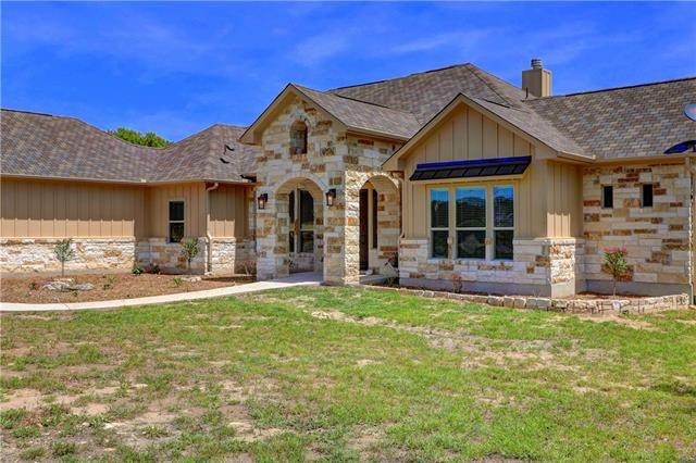 Gorgeous single story home on over an acre with 3 car garage. Only 2 years old and in pristine condition. This home is the total package with high-end finish-outs, coffered ceilings, butler's pantry. Chef's kitchen with stainless steel appliances, double oven, 5 burner cook top, massive granite island with seating. Open floor plan. Stunning floor to ceiling stone fireplace in family room. Luxurious master suite with double vanities, jetted tub, walk in shower and large closet. Large secondary bedrooms.