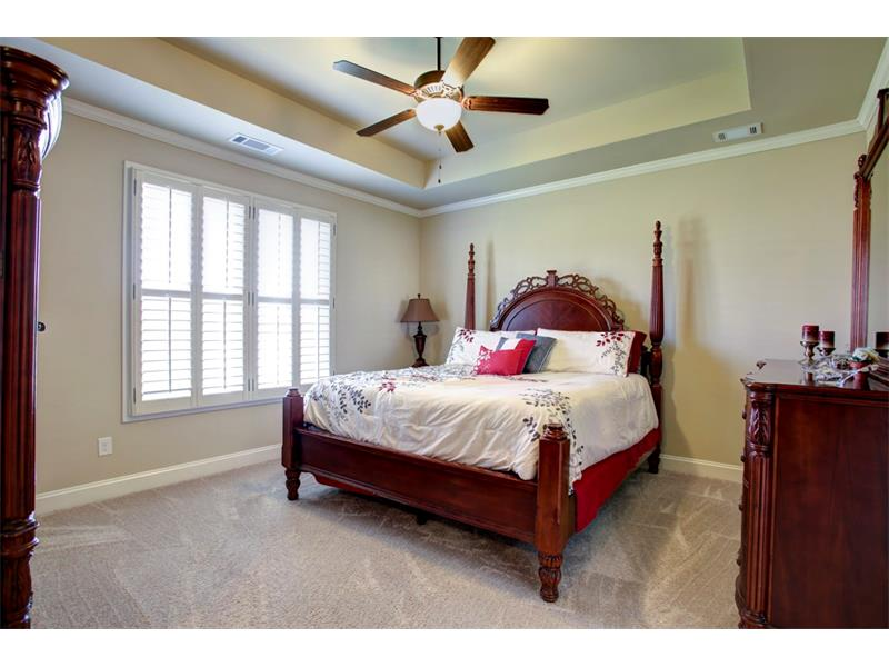Spacious master suite is accented by trey ceiling!