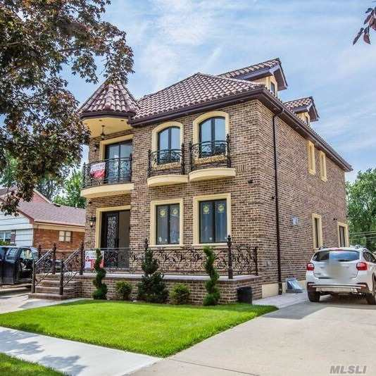 This Elegant And Luxurious New Construction Brick House Located On A 43*96 Lot In The Heart Of Great Neighborhood,Fresh Meadows.Totally 4 Bedroom And 3.5 Bathroom, Full Finished High Ceiling Basement,Open Space,Radiant Floor With Laundry Room,1F Many Windows And Sun Light,Radiant Floor /Living Room /Dining Room/ Fireplace/Big Eat-In-Kitchen With Top Brand Kitchen Appliances, 2F 4-Bedroom And 2 Full Bath Stand Up Attic With 4 Windows Must See!!!