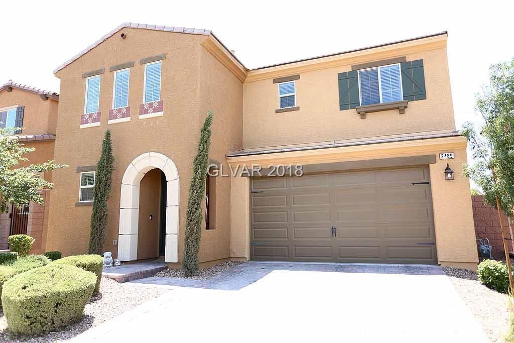 "Stunning Inspirada Pardee Home! Over 2,400 sq.ft., 4 bdrm, 2 1/2 bath. Spacious floor plan &covered patio for outdoor entertaining. Backs against walking path-no home behind*Gourmet kitchen w/SS appliances, granite, island, pantry, tile, 42"" cabinets*Mstr bdrm w/ceiling fan & 12' walk-in closet*Mstr bath w/dbl sinks, separate tub& shower*bdrms feature ceiling fan prewire*soft water loop*BBQ stub*quartz in baths*upgraded railings*9' ceiling down"