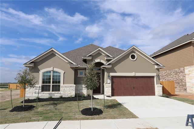 Open concept with a spacious family room that opens up to kitchen/breakfast area. The kitchen features an island, custom cabinets, stainless steel appliances and granite countertops. Large master bed w/Large walk in closet. Extended patio and gas line for outdoor grilling- perfect for entertaining! Carmel Creek is a master-planned community that features an amenity center, community pool, and walking trails. Easy access to 130, 79, and 45. Energy efficient and Whole Home Certified. Ready Now!