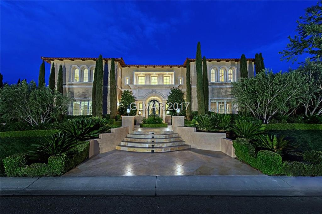 Stunning 10,768 sq ft of Italianate style villa on 14th Fairway offers a 2-story grand entry foyer, formal living & dining, office/library,family room & elegant kitchen.The lavish 2-story high ceiling foyer boasts custom wrought iron front doors & marble flooring. Gourmet kitchen w/ large island, elegant chandeliers, marble top & custom cabinetry. All luxurious guest bdrms feature on-suite baths. Entertainers bkyd incl. pool & spa, built-in BBQ.