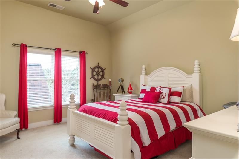 3rd upstairs bedroom with high ceilings.