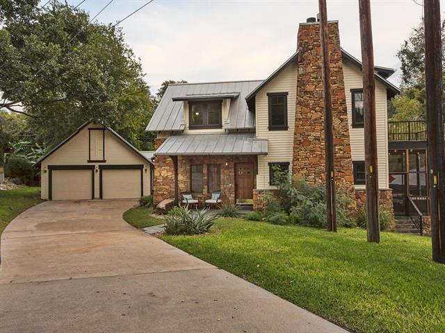 A Unique Custom Home with covered Lake Austin boat dock is a modern interpretation of the Arts & Crafts Movement. It's tucked away in a friendly 16-home community w/private lakefront park & 300' lakefront beach access. 4BR/3BA, 2-car garage w/workshop space, Family Chef will love the Open Kitchen off Great Room, Formal Dining, Office, 3 Open Porches, 1 Screened Porch, Exemplary Steiner Ranch Schools & the Open Floor Plan makes this the favorite spot for family gatherings. Make this Home Yours Today!