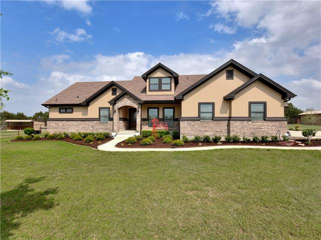 Magnificent property offering a custom home on over 10 pristine acres!  This open floor plan features 3 BR, 2.5 BA  along with a rec/game room, formal dining, & breakfast area.  Upstairs is a bonus room with closet and full bath that could be a game room, media room, or 4th BR.  Outside is a covered patio, 30X40 workshop with 1550 gallon water storage tank, 14X20 building with carport, 20X24 building with loft,  & a 12X24 run-in shed for the horses.  The property is fenced & cross fenced and has a pond!