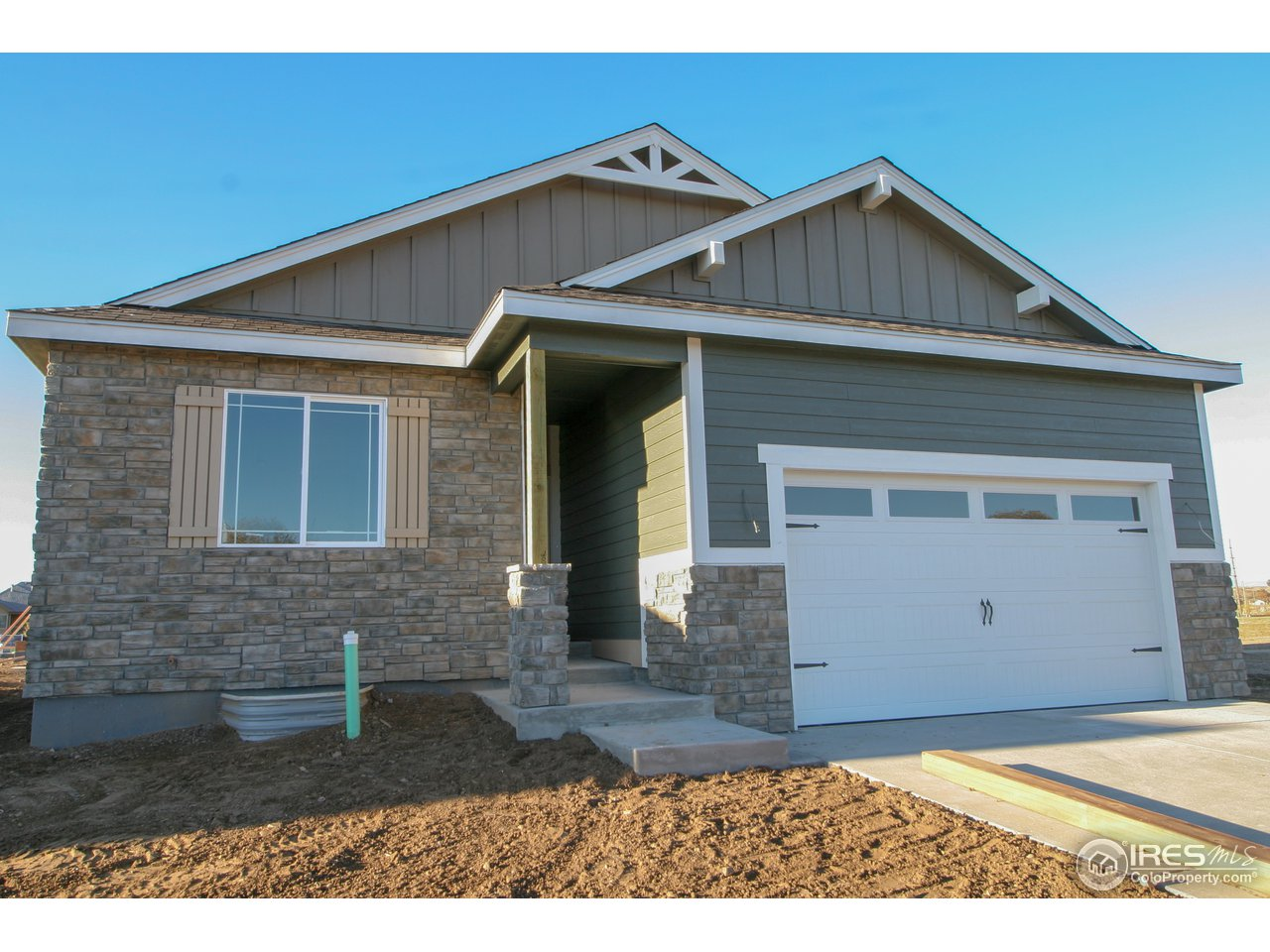 Brand new Baessler Home without the 6-month wait!  This open concept ranch features upgrades throughout with Luxe package, granite, upgraded appliances, great room fireplace, wood kitchen/dining/entry floors, air conditioning, 2-bedroom main level layout, covered patio, basement finish, and much more!  Low maintenance living with easy access to the Poudre River trail!  Home expected to be complete late-November, other quick delivery homes and pick-your-lot pre-sales available.