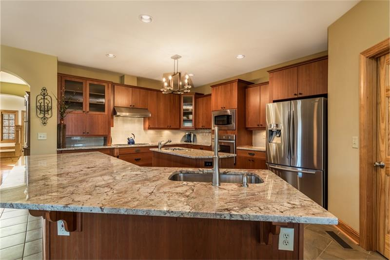 Large Granite Countertop in Kitchen