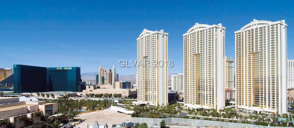 This amazing penthouse unit is one of kind, hard to find. Located on the 30th floor with great STRIP views!!! Jacuzzi tub, plasma IV, custom cabinetry with granite counter tops, designer furnishings. Owner's pool/spa, lounge, gym, valet parking, concierge and access to MGM Grand's amenities. A must see.
