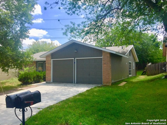 Remodeled 3 beds/2 baths 1-story home at a quiet and well established neighborhood, close to new shopping area of Bulverde. Ceramic tile and premium laminated floors throughout the entire house. Great open layout floor plan. Kitchen with granite countertop, plenty of cabinets and a breakfast room. Large master bedroom with 2-vanities in master bath and dual walk-in-closets; two other bedrooms sharing a bathroom. Updated lighting, plumbing and electrical. Recently installed roof, extended covered patio.