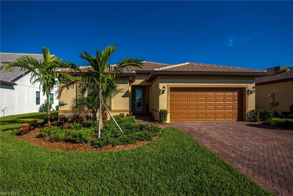 A. 22 Immaculate 2017 Summerwood Model Home is a great find in the Beautiful 55+ Gated Community Del Webb of Naples with Lovely Water View.  3 Full Beds and a Den with 2 Full Bath.  Impact Resistant Windows and Doors.  Crown Molding and Porcelain Tile on the Diagonal with Sealed Grout.  Porcelain Tile in Master Bath as Well, Including Up the Shower to the Ceiling.  Beautiful Kitchen Has all the Bells and Whistles-   Includes Level 6 Luxury Antique White Kitchen Cabinets with Dovetails Doors, Whisper-Close Drawers/Doors, Decorative End Panels, Large Crown and Dentil Moulding.  Also Included is an Extended Island with Quartz Bull Nose Countertop and Marble Diana Royal Backsplashes.  Pendant Lighting, Energy Hood Range Vented, and Stainless Steel Appliances. The Stove and Dishwasher- They've Never Been Used!  8 Ft Doors and 5 ¼ Baseboards.  Drywall Finish is Smooth and the Corners are Rounded Throughout.  Epoxy Finished Garage, and Finished Laundry room.  The Latter includes Matching Kitchen Cabinets and Quartz.  This House is So Clean and Brand New You can Eat off the Floor.  Great Price-  the Builder Won't Beat It.  See the Upgrade Sheet.  Book Your Private Showing Today!