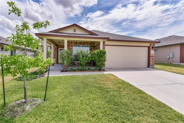 Tour this turn key single story home that has been well maintained. Unwind on the covered front or back patio or soak in the tub in master bath retreat. This updated home boasts granite countertops, wood flooring, arched doorways and a spacious kitchen that makes entertaining easy. Just minutes from !-35 and 130 Tollway that makes for an easy commute. Enjoy the community amenities at the newly remodeled Sonterra pool and clubhouse.