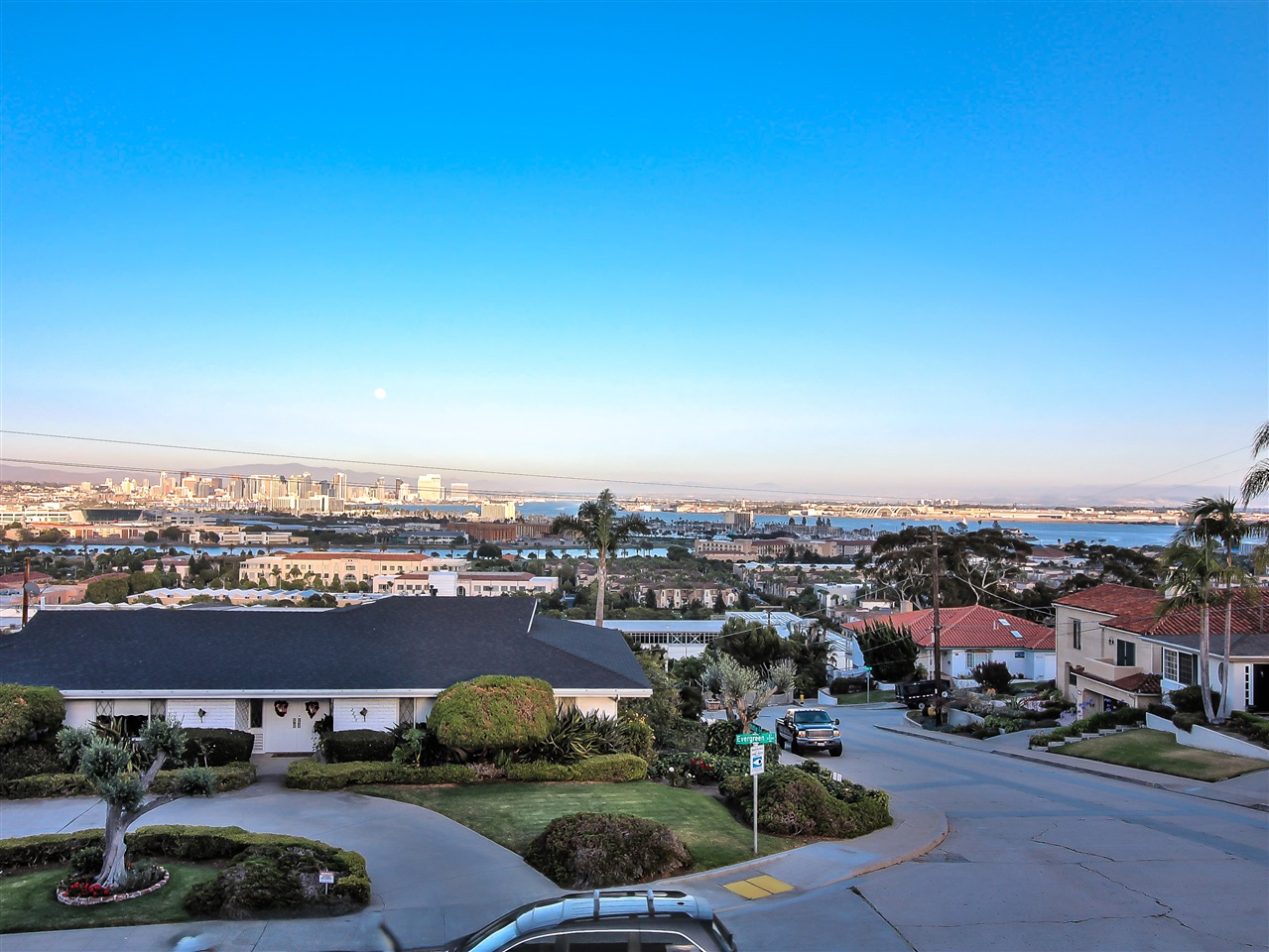 Spectacular Panoramic Bay & City Views from this well designed, 4205 Sq. Ft. floor plan. The home is well positioned on a flat 10,000 Sq. Ft. corner lot in a quiet neighborhood surrounded by large beautiful homes.   An inviting 4 BR + Optional 5th BR and 4 Bathrooms overlooking Downtown & Harbor Views or the expansive backyard & large swimming pool. All rooms are generously proportioned & have dramatic Views!  Over-size 2 Car garage + adjacent pad to park your RV or boat.  Lots of storage space throughout*Additional Photos soon to follow*.  New carpet & paint throughout.  Custom built in 1973 by the current/original owners. Lovingly maintained over the years.  The over-sized garage has abundant storage and a workshop.  The flat usable backyard has tremendous potential.