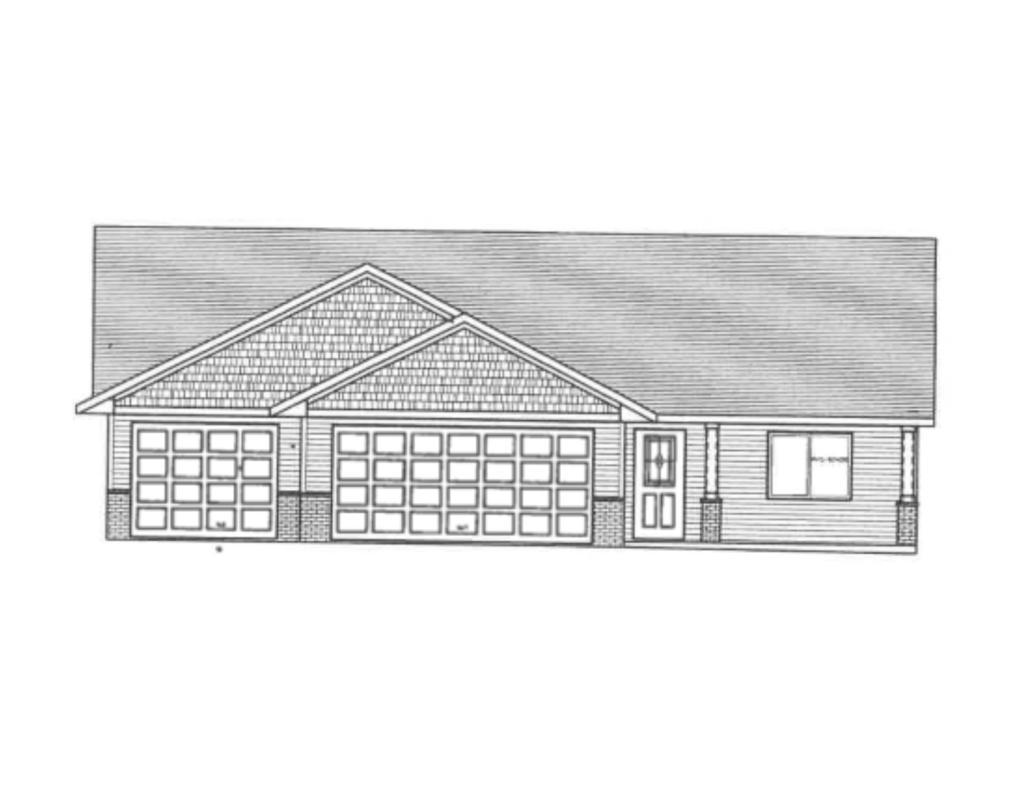 Under construction. Attractive four bedroom, four bath rambler with 2400 sq. ft. finished. Custom cabinets. Master bedroom suite. Walk-in closets. Main floor laundry. Triple garage. Vinyl siding and brick. Underground storm shelter.