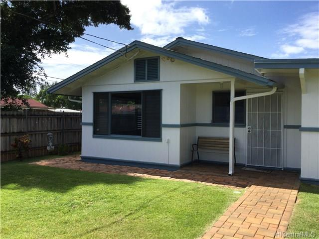 LOCATION! Darling Home in Haleiwa Town! Located right on the corner entrance to the Pikai Street neighborhood. Steps to the ocean and about a 5 minute walk to Alii Surfing Beach and Haleiwa Harbor. Dwelling is a 2/1 but on tax record it is a 3/1. A wall was taken down but can be put back. Property is in Good Condition along with a large covered lanai and covered carport. Plenty of storage and workshop area. Septic system was installed about 4 years ago! Fully fenced yard with outside shower. Nice and private!