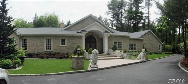 Custom Built Beauty In The Heart Of Brookville Set Back And High On 2+ Acres Of Flat Land.  Abundant Natural Light With Walls Of Windows With Views Of Beautiful Rear Prop. Expansive Great Rm With Soaring Ceilings, Gourmet Kitchen, 3 Fireplaces, Custom Moldings, Large Rooms. Built From Bottom Up In 2016 With Every Update. Ing Salt Water Heated Pool With Custom Stonework.