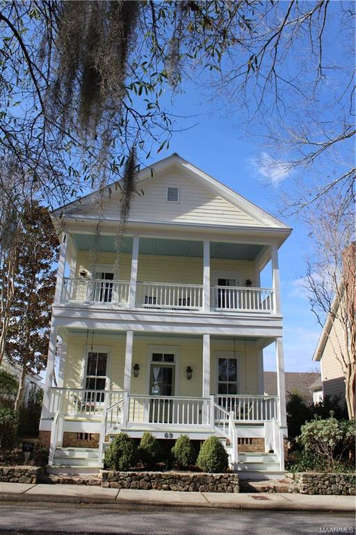 Come see what the Waters has to offer! This 2 Bedroom, 2 Bath home has a sprawling covered front porch and screened-in and covered back porch - perfect for enjoying the view and entertaining at the Waters. Bottom floor has open floor plan with one bathroom, kitchen with appliances, and living room with gas logs. Upstairs you will find a sun porch, full bath with tub and shower combo, and sizable bedroom. 