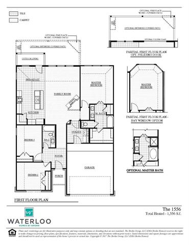 MLS# 1201635 - Built by Brohn Homes - April completion! ~ Open floorplan with large family room and big kitchen with an oversized, granite island. Lots of windows for natural light. 17 x 17 tile in entry and all wet areas.