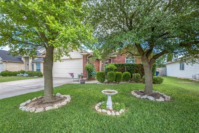 Pristine 3 bedroom home with open floor plan and spacious kitchen and dining. Master retreat features a separate sitting area perfect for a nursery or office. Large back yard with patio and storage building. Neighborhood pool, playground and park or take a walk to Hutto Lake Park.