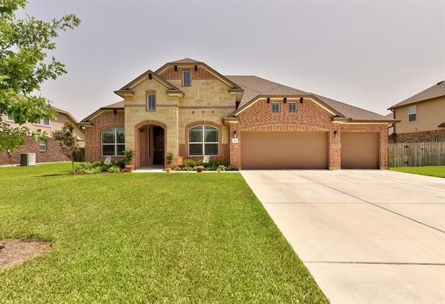 Beautiful 1. 5 story on a large lot~This 4 bedroom 2.5 bath with study & formal dining features all bedrooms on main level & a gameroom w/ half bath located up~The bright & expansive living space w/ fireplace opens to a well appointed kitchen containing a large island, SS appliances w/ gas stove, granite counters & deco tile backsplash~Beautiful architectural features with arched doorways, crown molding & tray ceilings~Private master suite~Enjoy a sizable covered patio overlooking a well landscaped yard.