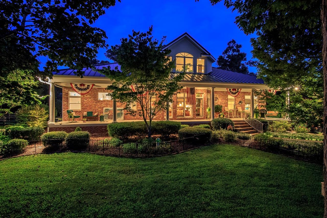 Country living,but close to town. Custom home on 15 acres w/ panoramic valley views. Main floor living w/ Master suite on main level w/elevators/dumbwaiter to make access from the garage effortless. Gated subdivision & property.  Nashville address but Williamson county.