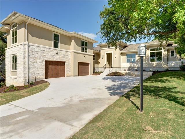 """Motivated Seller! Gorgeous new Texas Contemporary on private lot on one of the most coveted streets in Lakeway. Stellar lake views from a lg second floor patio. Wonderfully open floor plan w/ upgrades galore. Custom cabinets, quartz counters, Thermador appliances, 7"""" plank wood floors, high ceilings, huge office & an over sized 2 car garage plus spacious mud & utility room. Multiple patios, perfect for outdoor living & entertaining. Lg private backyard. Built by Lee & Barrier custom homes. Bring offer!"""