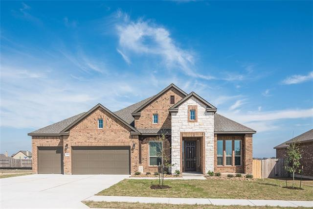 "NEW Scott Homes 4 Bed; 2-1/2 bath; study; formal dining; 3-car garage 1-story on 80' Wide Lot. Stunning 4-sided brick w/stone; covered patio. Elegant double wrap crown ceilings at entry/master. Gorgeous wood plank ceramic floor tile. Gourmet kitchen w/huge center island; undermount sink w/high arc faucet; upscale stainless appls; Custom Built Cabinetry w/42"" uppers. Large 42""x48"" shower in Master plus built-in tub w/tiled skirt. Energy Audit w/HERS cert."