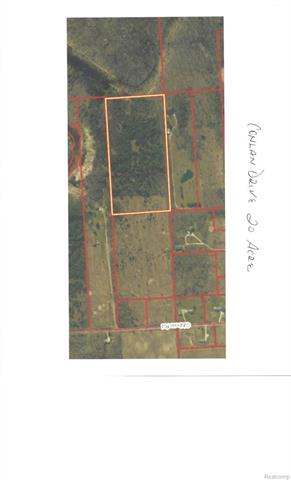 This parcel has two ID# 210203007000 & 210203001000  total of 35 acres. Seller will include the completed engineering development plans. There is a 66ft easement  off Gibbons and Conlan to get to the property.  Property backs up to a beautiful bluff