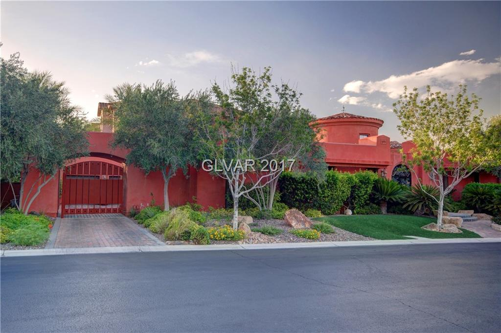 Gorgeous Luxury Custom 1 Story in Guard Gated Roma Hills. Tuscan style estate designed by Beverly Hills Architect. Based off Classic Roman Villa with private Pool in the Central Courtyard. Hand forged entry doors, soaring foyer, travertine, hardwood floors, handmade pulls, concrete floors and counters, custom tiles. Gated motor court too! Must see! This is neighborhood between Dragon Ridge Country Club and Guard Gated Ascaya.