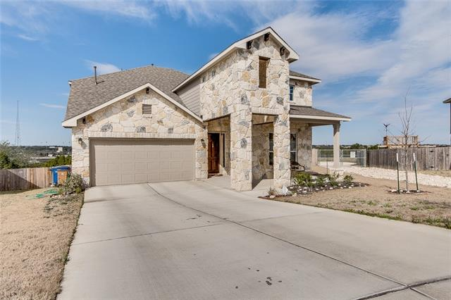 AVERY RANCH GEM !!! 2016 Built, big corner lot with greenbelt in the back. Granite counter top, Stainless steel appliances , tile back splash with a breakfast bar open to the living room, formal dining and office.Tile flooring in the living and wet areas and carpet in the bedrooms 3-sides open view with plenty of natural light. 3-sides masonry walls with front-stones.Master on the main. Expensive customized shades installed on windows. Pre Installed security system, just need activation.Exemplary LISD