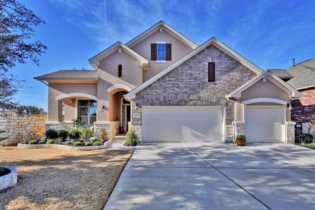 Taylor Morrison's gorgeous and desirable Ashton plan with ALL structural upgrades including kickout bay windows, 3 car garage, fireplace, 4 bed/3 full bath option! Immaculate 1-story home with an open floorplan and excellent room layout! Features include granite counters, solid wood cabinets, stainless steel built-in appliances, wired for surround sound, sprinkler system, crown molding, upgraded fixtures and window shades, high ceilings, pro landscaping with stone fencing on one side! TRULY A MUST SEE!