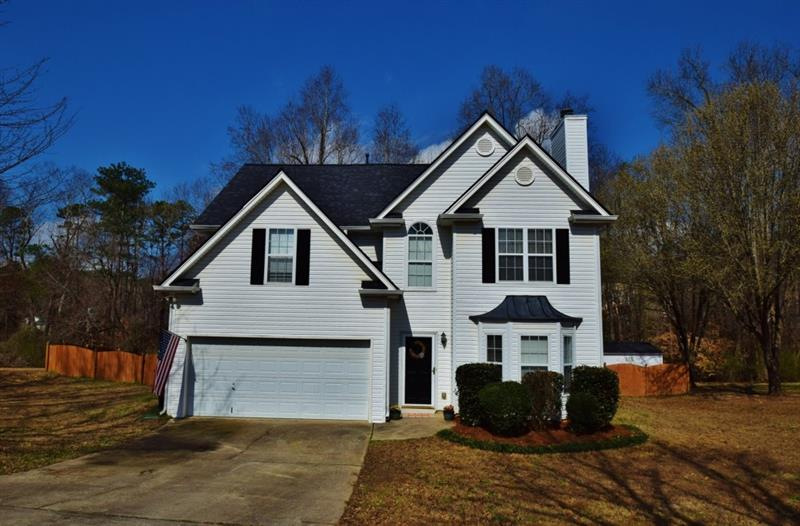 Perfection in Little Mill Farm Subdivision! This quaint home sits on a cul-de-sac lot with large fenced yard.Step inside to a large family room with fireplace and bay window. The separate dining space can easily seat 8. The kitchen has generous counter space and an eat-in breakfast area with access to the baackyard. Don't miss the oversized master bedroom with seating area and three additional bedrooms upstairs.