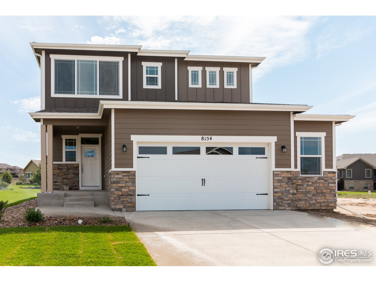Rare opportunity to own a brand new Baessler Home without the 6-month wait; home is move-in ready!  The London 2 story plan offers plenty of space with a smart design that allows for open entertainment on the main level, both inside and out.  The second level features 3 bedrooms, 2 baths, and laundry. This home is full of upgrades including quartz kitchen countertops, gas range, additional 6x24' garage bay extension, and much more!  With easy access to the Poudre River Trail!