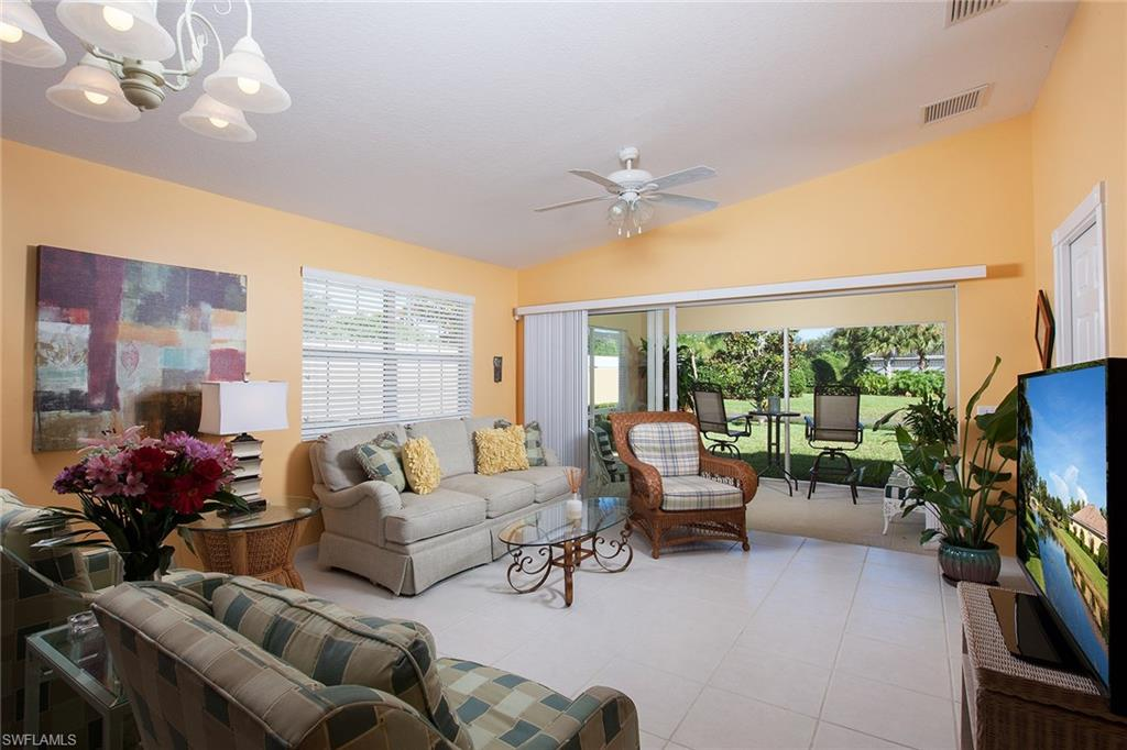 This is a Capri model home with poured concrete construction on a corner lot with a lake view. The home features two bedrooms, a den, two baths, a central vacuum system, an alarm system and low HOA fees. It is close to the clubhouse and features amenities including the resort-style heated pool, lap pool, restaurant, tennis courts, gas station, fitness room, post office, playground, car wash, basketball court and much more.