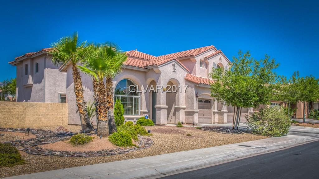 Beautiful 2 story, 4 bed, 2.5 bath, with loft. Features granite countertops*tile flooring*neutral colors throughout*pool/spa combo*covered patio*easy to maintain landscaping*minutes away from Downtown Summerlin & Red Rock*walking distance to schools*close to restaurants and shopping.  Come home and enjoy a relaxing evening in your backyard oasis overlooking the mountain and strip views.  Move in ready.  This home is a must see!