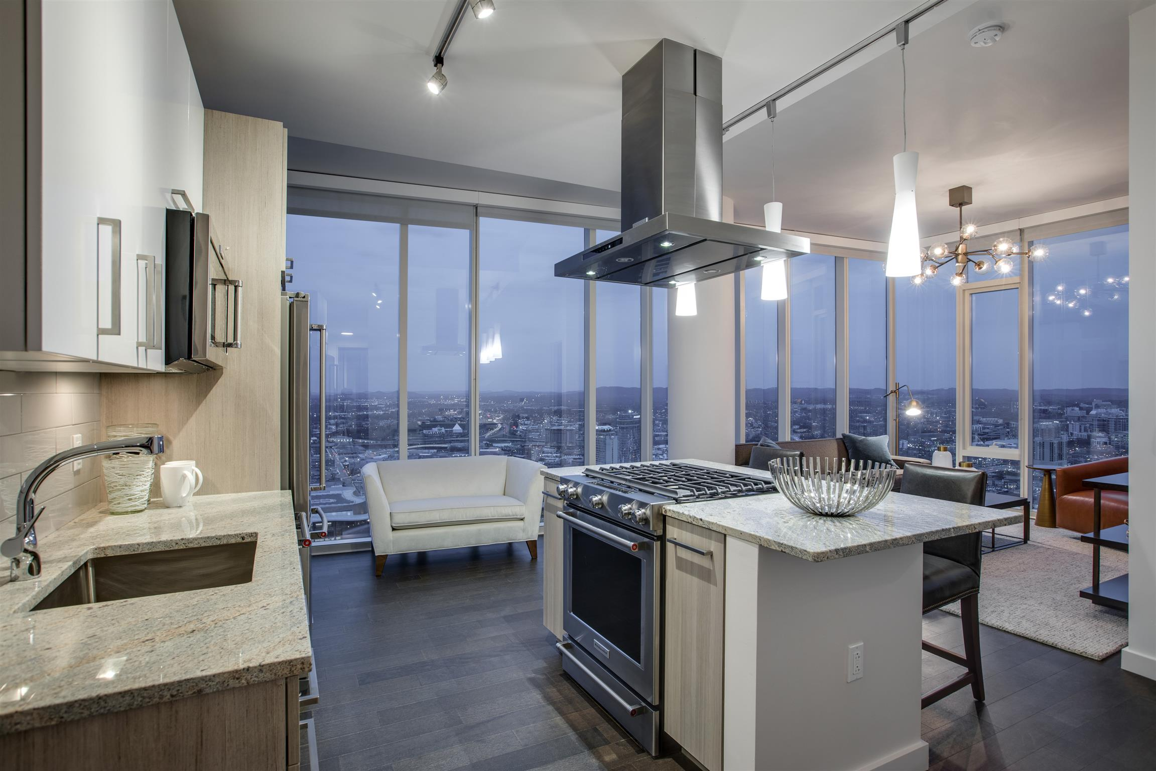 45 floors of unparalleled, urban, high-rise living. 2 amenity floors worthy of Park Ave NYC. Nashville has never had VIEWS like this! Our condo floors begin where all others stop. Walk to all sports venues, cultural attractions, top restaurants & Nashville landmarks. 505 Nashville - life elevated   8 DIFFERENT 2BR PLANS AVAILABLE - Links in Media.
