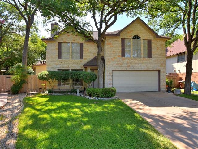 Incredible Rattan Creek opportunity. Rare floorplan master suite down and large mater suite up. 400 sq ft  master suite with full bath, large closet  wall of windows facing beautiful back yard with private entrance. This addition was added for owner's Mother and is not in county appraisal square footage. Could be used for game room office est. Park like backyard with lots of trees that have been groomed this year . Large deck with outside decorative lighting. cement patio, sidewalk to front.