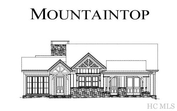 Great opportunity to own a brand new 4 bedroom, 3 1/2 bath, 2-level home on a 1+ acre lot in prestigious Mountaintop Golf & Lake Club Community minutes from Cashiers, NC. A limited number of new homes are built in this exclusive community each year and this architectural design by Caldwell-Cline with construction by Carruth Homes is sure to motivate discriminating buyers. Exceptional floorplan with world class finishes. A spacious master suite with study nook is conveniently located on the main level along with grand foyer, gourmet kitchen and island, wet bar, dining room, and family room with fireplace. The screened back porch off the family room/dining room features a gorgeous fireplace and outdoor kitchen for casually elegant entertaining. on the lower level 2 en suite bedrooms, the bunk room with breakfast bar, and a gathering room with fireplace offer guests luxurious privacy. There is also a large porch for enjoying mountain views, fall leaf change, and Western Carolina sunrises. This home is convenient to the Norton Road Entrance and US 64. A must see!