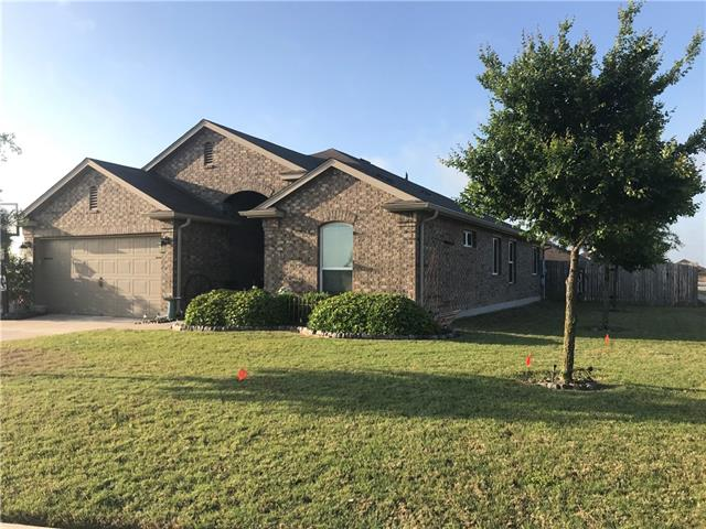 HOME SWEET HOME~You've got to see this one! Immaculate home on CORNER lot, 4 BEDRMS/2BATH, 2 DINING/1 LIVING~3 Sides BRICK, COVERED Patio, Kitchen boasts beautiful GRANITE, STAINLESS STL App & includes Fridge,Washer&Dryer! 4th Bedrm w/ FRENCH DOORS can be OFFICE/NURSERY/EXERCISE! Master Bath has DOUBLE VANITY, WALK-IN, GARDEN tub, & SEP Shower. Home has been sealed to keep out unwanted guests! Great location~minutes from Highly Acclaimed HUTTO Schools, Shopping,Dining,Toll Road, & quaint downtown Hutto!