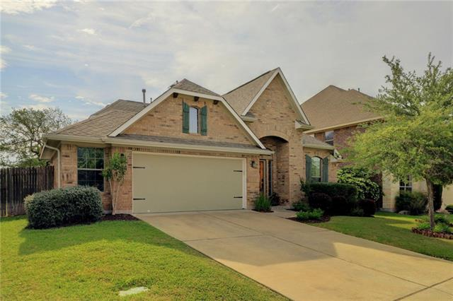 Spacious home with keyless locks located near exemplary schools and Brushy Creek Greenbelt trails. All bedrooms on 1st floor with a bonus room/media room with 1/2 bath on 2nd floor. Entertaining is easy in this home. The open floorplan allows you and guests to connect as the kitchen overlooks the family room and the center island provides extra counter space. Enjoy your shaded backyard with mature trees and outdoor fireplace or make dinner on the built-in grill connected to natural gas.