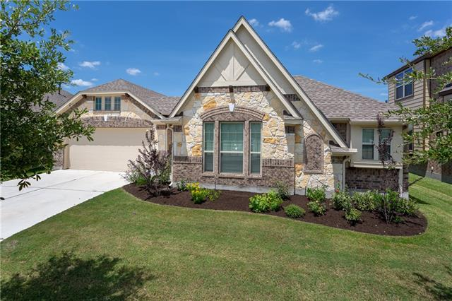 This is your opportunity to make this beautiful house your new home! Besides the affordable lifestyle for those who enjoy playing golf, Hutto ISD is another great plus for families! You won't want to miss this incredibly designed home that features a unique front courtyard, a beautifully designed front door that welcomes you into an this elegant round foyer. The gourmet kitchen has sparkly granite countertops, kitchen island, and beautiful cabinetry, endless storage space and walk-in pantry.