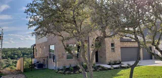 Last Remaining Home with a Valley View. Open-concept living. Expansive windows, washing interior with warm sunlight. Beautiful master suite with windows facing green belt, Glass doors from family room lead to huge covered patio & breathtaking canyon & hill country views. Trento offers a beautiful hill country oasis. Incredible tree-lined views, comfortable amenity center, swimming pool, minutes from Cedar Park shopping/activities. Milestone Community Builders.