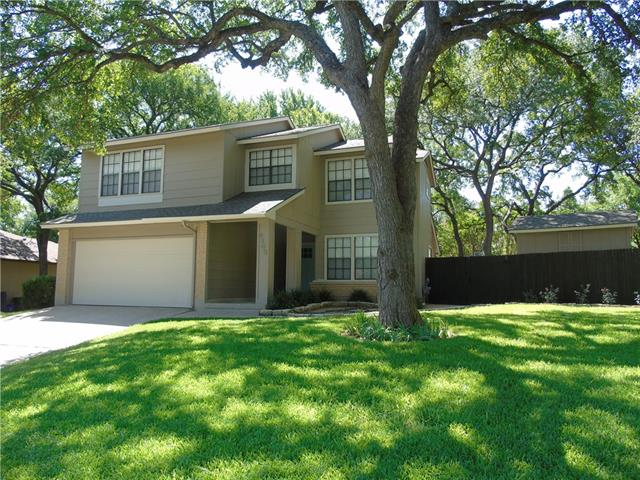 Big lot w/ towering trees on quiet cul-de-sac! Walk to elementary, pool & parks, library, hike & bike trails. A couple of minutes to The Domain, National Instruments, Apple, etc. Recent remodel: interior paint, exterior trim & paint, recessed lighting, front and back doors, shower surrounds, light & plumbing fixtures, carpet, stainless appliances, cabinets, backsplash, new stairway w/ rail & balusters, removed popcorn. Flexible plan w/ office (could be 4th bedroom). 12x12 framed storage building. Sweet!