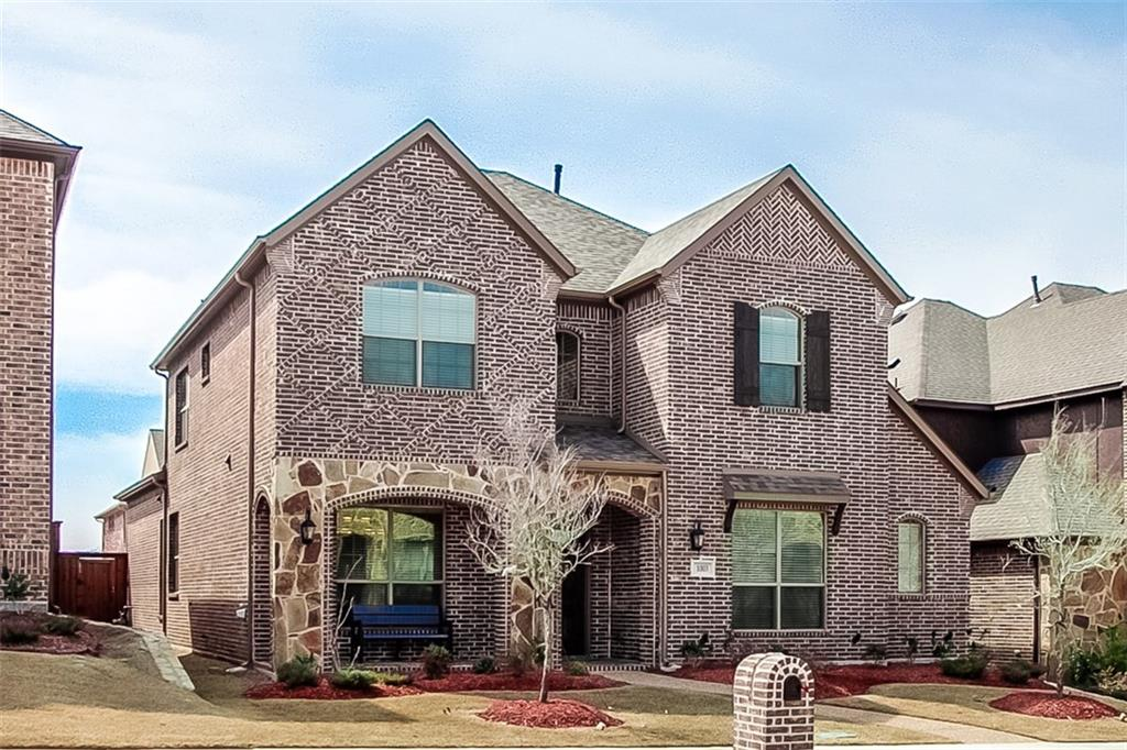 Located off US-75 and McDermott. Easy commute, excellent schools and plenty of family friendly activities. Pristine home featuring full brick and stone elevation, covered front porch. Neatly landscaped with full sprinkler system. Gourmet kitchen with stainless steel appliances, granite countertops, tile backsplash and 42 inch raised panel cabinets. Energy Star Certified. Recessed energy efficient LED lighting. extra storage throughout home. Reverse Osmosis drinking water. Powerful kitchen direct vent cooking exhaust fan. Island work station. Master bath oversize stand up shower, jetted tub, granite bath countertops. Ceiling fans throughout. Powered gate to back yard and garage. 8 foot doors 1st level.